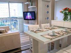 Apê em Decoração: Soluções para sala de jantar e estar integradas