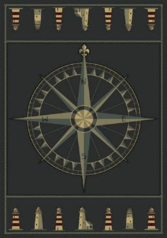 Great Compas Nautical Rug Collection. The CompassCompass RoseNautical ...