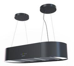 Bergstroem Design extractor cooker hood island hood stainless steelmatt black in Home, Furniture & DIY, Appliances, Cookers, Ovens & Hobs | eBay