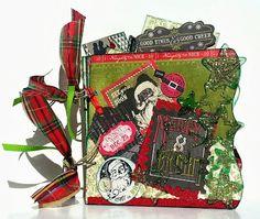 "Clear Scraps Acrylic Christmas album 6"" x 6"" by guest designer Liza"