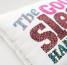 I love this CMYK embroidered typography by Evelin Kasikov.