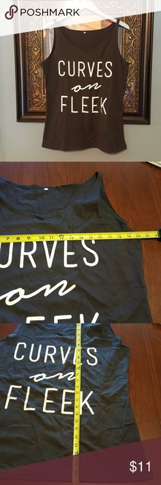 Curves on Fleek tank top NWOT fits 1X Got offline for me, says 3x....not really. Would fit XL big or 1X normal. fleek Tops Tank Tops