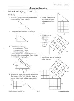 introduction to pythagorean theorem activity school pinterest pythagorean theorem. Black Bedroom Furniture Sets. Home Design Ideas