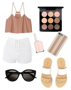 """""""A walk by the river 💙🌊"""" by maycee-markell on Polyvore featuring TIBI, Topshop, MAC Cosmetics, Michael Kors and Soludos"""