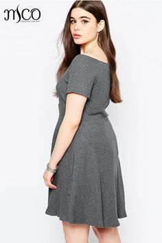 ... 2017 Summer Sexy Bardot Plus Size Skater Dress Short Sleeves Off  Shoulder Knitted Shift Dresses Big Women Clothing 3 4XL 5XL 6XL from  Reliable womens ... ec0a5554f2fc