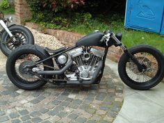 Exile-style sportster hardatil custom w/ low-profile modern tires