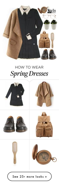 """#SheIn"" by credentovideos on Polyvore featuring Chanel, Philip Kingsley and Dr. Martens"