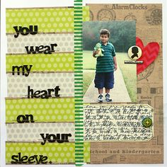 Bold Stripes: Get Creative with this Trend on Your Scrapbook Pages  | Scrapbook Page by Doris Sander | GetItScrapped.com