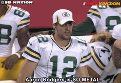 Aaron Rodgers busts out the air bass.