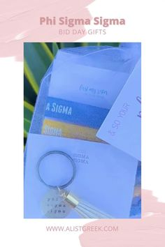 Spoil your new members this recruitment with the Pref Present bundle! Gift bag includes a sorority tassel keychain, hair tie set, and button set. Phi Sigma Sigma Gift Bags   Phi Sigma Sigma Bid Day   Phi Sigma Sigma New Member Gifts   Phi Sigma Sigma Recruitment   Sorority Bid Day   Sorority Recruitment   Bid Day Bags   Sorority New Member Gift Ideas #BidDayGifts #SororityRecruitment Alpha Epsilon Phi, Phi Sigma Sigma, Alpha Sigma Alpha, Alpha Chi Omega, Sorority Bid Day, Sorority Recruitment, Bid Day Gifts, Graduation Gifts For Her, Tassel Keychain