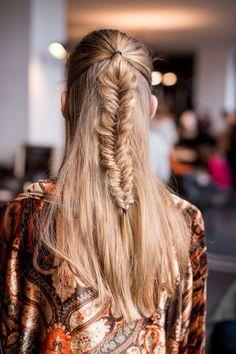 A fishtail makes for instant interesting locks. #hair #braid