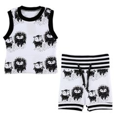 Hedgehog And Friends T'Shirt And Shorts Set
