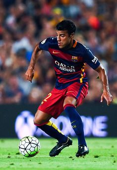 Rafinha of FC Barcelona runs with the ball during the Joan Gamper trophy match at Camp Nou on August 5, 2015 in Barcelona, Catalonia.