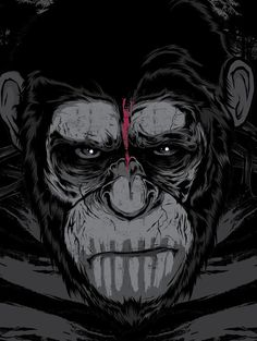 088 - Dawn of Apes Poster by Joshua M. Smith, via Behance