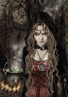 Illustrated witch