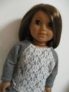 American Girl Doll Clothes  Leopard and lace by 123MULBERRYSTREET, $24.00