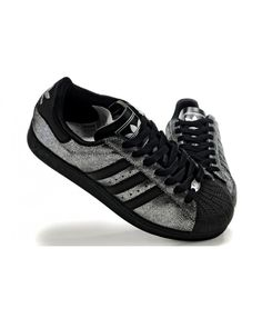 reputable site 7740b ab372 Adidas Superstar Mens Shoes In Sliver And Black On Sale