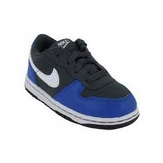 Blue and black nikes