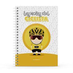 Cuaderno XL - Las notas del ciclista, encuentra este producto en nuestra tienda online y personalízalo con un nombre. Notebook, Notebooks, Report Cards, Store, The Notebook, Exercise Book