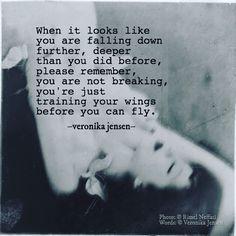 Veronika Jensen @lulus.secret.desires • Photo: Rimel Neffati • #angel #wings #fly #fall #break #stay #strong #staystrong #lulussecretdesires #veronikajensen #poetry #quote #quotes #writing