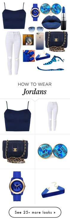 BlueImprint by nakila-hubbard on Polyvore featuring NIKE, WearAll, Chanel, MAC Cosmetics, Casetify, Michael Kors and Christian Dior