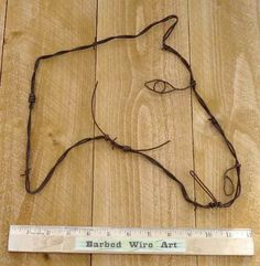Horse Head Metal South Western Ranch Wall Decor Farm Country Barbed Wire Art | eBay