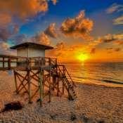 Lantana Beach Sunrise Over Lifeguard Tower