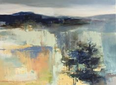 Contemporary Abstract Landscape Painting Toward The Sky by Intuitive Artist Joan Fullerton