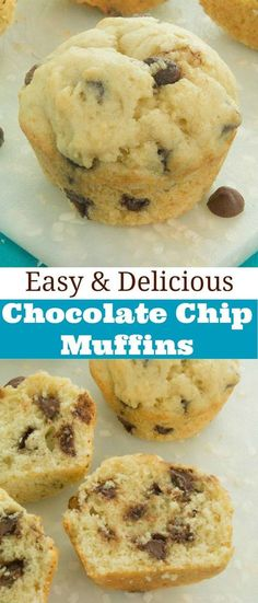These are definitely my new favorite muffins – easy chocolate chip muffin recipe. Packed with tons of chocolate chips and super-moist!