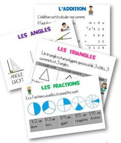 Displays for the class Math Measurement, Math Fractions, French Education, Kids Education, Education Application, Math School, 5th Grade Math, Teaching French, Learn French