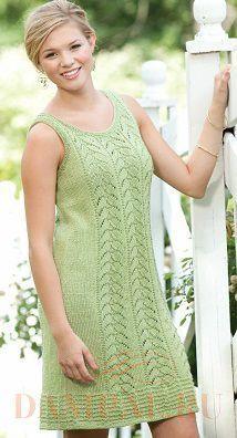 ажурное летнее вязаное платье