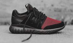 Adidas Tubular Radial Core Black Cardinal