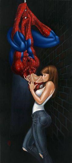 parejas de superheroes enamorados