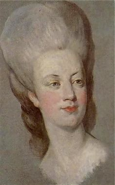 Elisabeth Vigée Lebrun - The young queen Marie Antoinette, circa 1778. Pastel drawing.