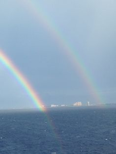 Double rainbow!! Nassau, Bahamas!!