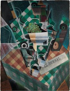 Juan Gris (Spanish, Madrid 1887-1927). Still Life with Checked Tablecloth, 1915. The Metropolitan Museum of Art, New York. Leonard A. Lauder Cubist Collection, Purchase, Leonard A. Lauder Gift, 2014 (2014.463)