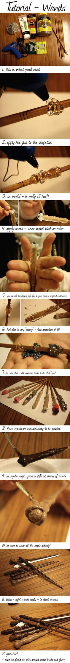 How to make your own Harry Potter wand…