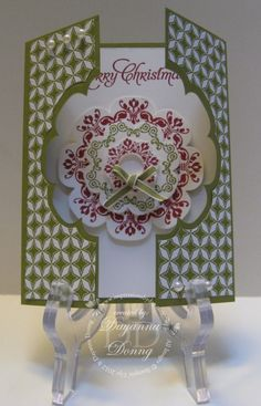 Gatefold Card by Dayanna Donng  (091013)  [Stampin' Up!  Floral Frames Framelits w/Daydream Medallions stamp set]