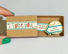 "Cute Valentine Love Card/ Card/ Matchbox / Handmade pop up card/ Gift box / Message box/ ""I love you to the moon and back again"" Matchbox Crafts, Matchbox Art, Anniversary Funny, Anniversary Cards, Love Gifts For Her, Cute Love, My Love, Valentine Love Cards, Cute Messages"