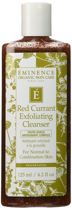 Eminence Red Currant Exfoliating Cleanser, 4.2 Ounce * This is an Amazon Affiliate link. Continue to the product at the image link.