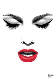 lips sketch - Google Search