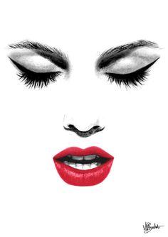 lips sketch - Google Search