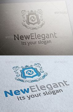 New Elegant Logo — Photoshop PSD #design #executive • Available here → https://graphicriver.net/item/new-elegant-logo/5960561?ref=pxcr