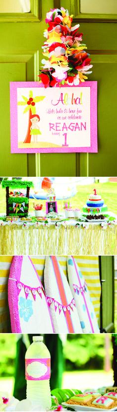 Hawaiian Aloha Birthday Party idea