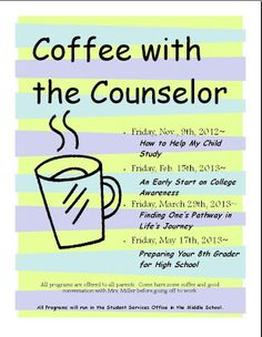 Coffee With The Counselor (linked to a specific topic, however, check out others on webiste.)