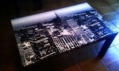 La conocida mesa de Ikea puede convertirse en una así de bonita #Idea #DIY