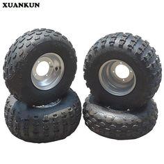 XUANKUN Four Karting Motorcycle ATV 19X7-8 18X9.5-8 Inch Tire Wheel Set