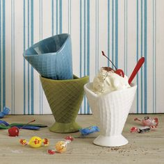 west elm's furniture sale and home decor sale provides stylish solutions at affordable prices. Accent any room with a modern style. Ice Cream Dishes, Ice Cream Bowl, Cream Cups, Ceramic Bowls, Ceramic Pottery, Waffle Ice Cream, Home Decor Sale, Ice Cream Social, Cool Kitchens