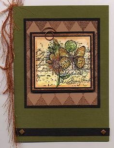 Copper Butterfly small   ... Stampin Up - Garden Collage