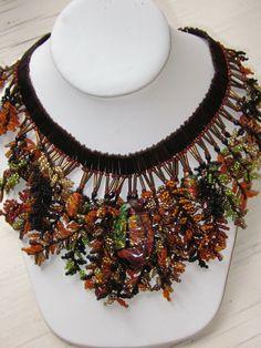 leaf fringe conversion - Beadwork necklaces book 2002